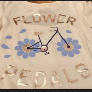Old Navy Matching Sets - Old Navy 4T Flower Shirt & Girlfriend Jeans